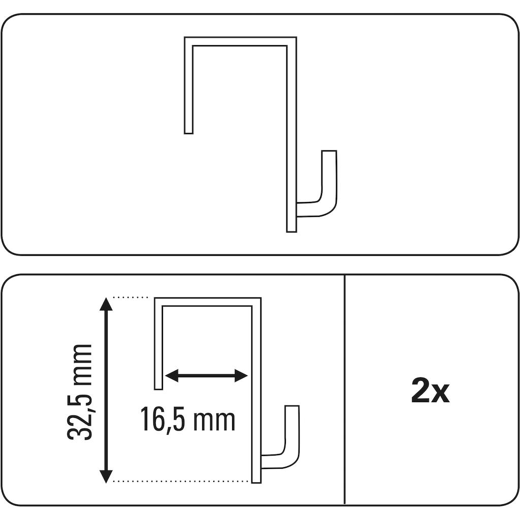 GARDINIA Gardinenhaken »Dekohaken für Fenster und Türen«, transparent