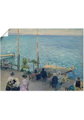 Artland Wandbild »Café-Terrasse am Genfer See. 1908«, Gewässer, (1 St.), in vielen Größen & Produktarten -Leinwandbild, Poster, Wandaufkleber / Wandtattoo auch für Badezimmer geeignet kaufen