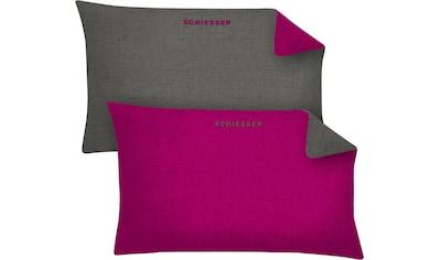 Schiesser Kissenbezüge »Schiesser Doubleface«, (2 St.), in tollen Unifarben kaufen