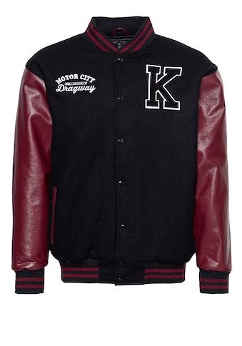 KingKerosin Collegejacke, aus Wolle und Leder kaufen