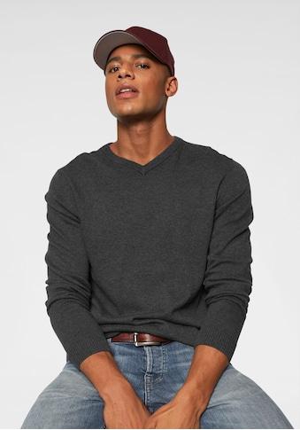 Jack & Jones V - Ausschnitt - Pullover »JJEBASIC KNIT V - NECK« kaufen