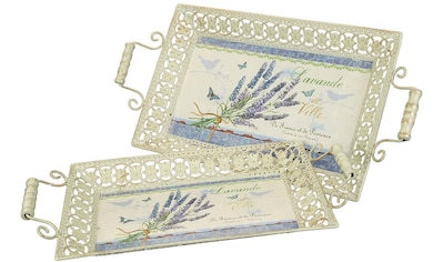 Ambiente Haus Tablett »Lavendel-Tablett 2er Set«, (1 tlg.) kaufen