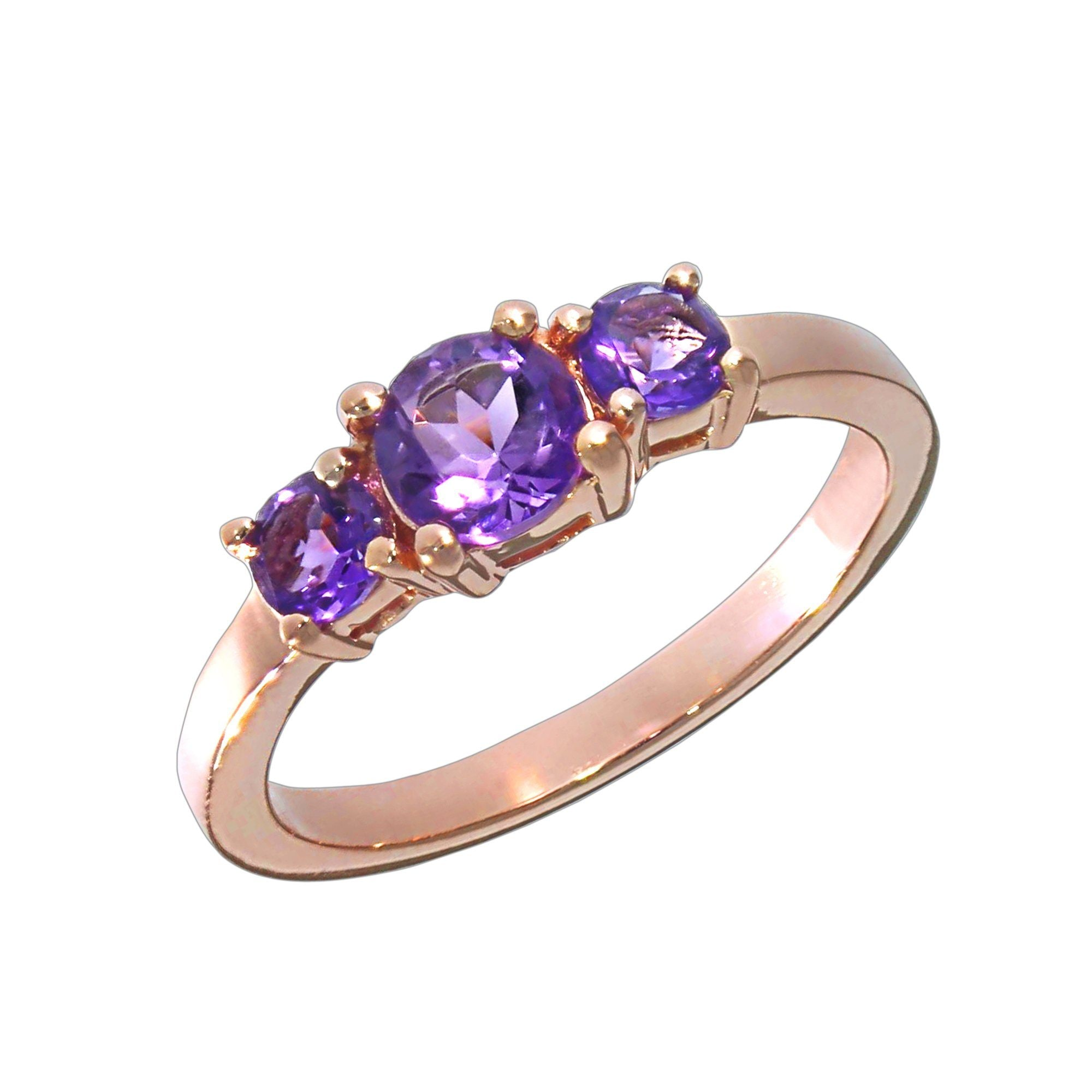 Vivance Ring 925/- Sterling Silber rotvergoldet Amethyst   Schmuck > Ringe > Silberringe   Rot   Vivance