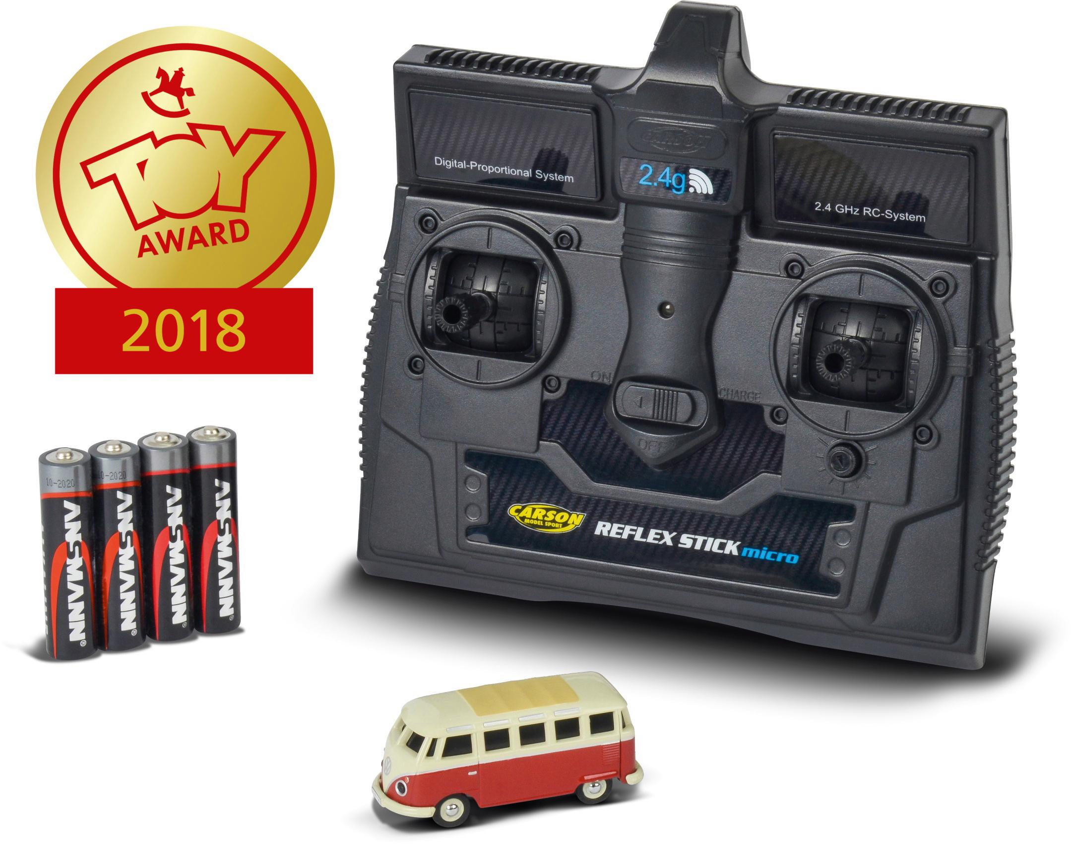CARSON RC-Bus VW T1 Samba Bus, mit LED-Beleuchtung rot Kinder Ab 6-8 Jahren Altersempfehlung