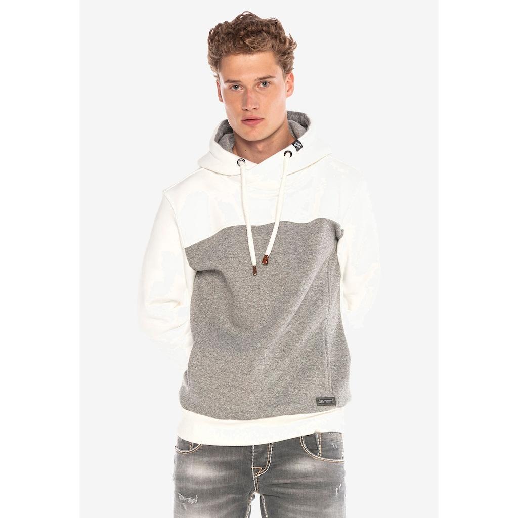 Cipo & Baxx Kapuzensweatshirt, mit hohem Kragen