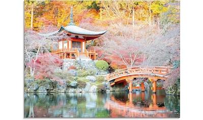 Artland Glasbild »Shingo Buddhistischer Tempel«, Gebäude, (1 St.) kaufen