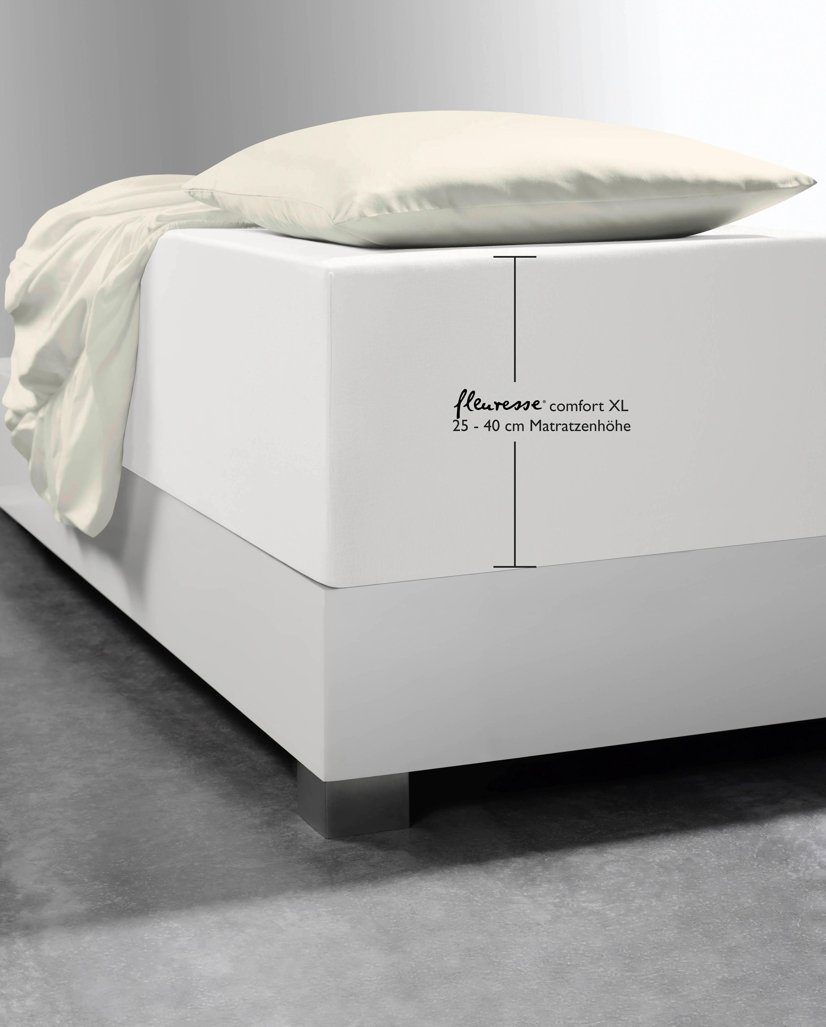 Spannbettlaken Comfort XL fleuresse | Heimtextilien > Bettwäsche und Laken > Bettlaken | Baumwolle | Fleuresse