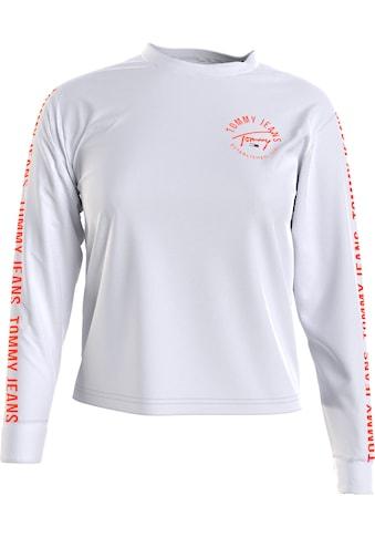 Tommy Jeans Langarmshirt »TJW CROP TAPE LS TEE«, mit Tommy Jeans Logo-Schrifzügen auf... kaufen