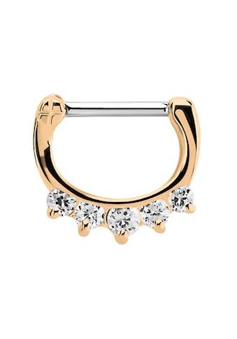 Adelia´s Nasenpiercing »Septum Clicker Nasenpiercing rosegold mit 5 Steinen«, mit 316l... kaufen
