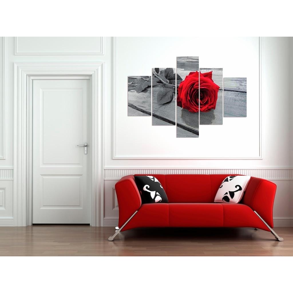 Home affaire Wandbild »RUMIN / Rose on the floor«, 2x 20/35, 2x 20/50, 1x 20/70 cm
