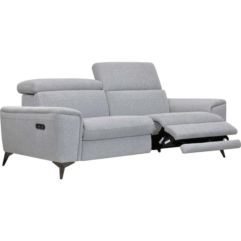 Places of Style 2,5-Sitzer »Theron«, elektrische Relaxfunktion, USB-Anschluss, manuelle Kopfteilverstellung