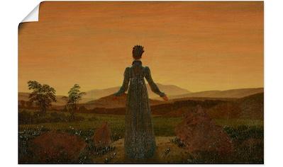 Artland Wandbild »Frau vor der untergehenden Sonne« kaufen
