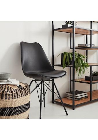 Homexperts Esszimmerstuhl »Ursel 01«, (2 Stück), Sitzschale mit Sitzkissen in Kunstleder kaufen