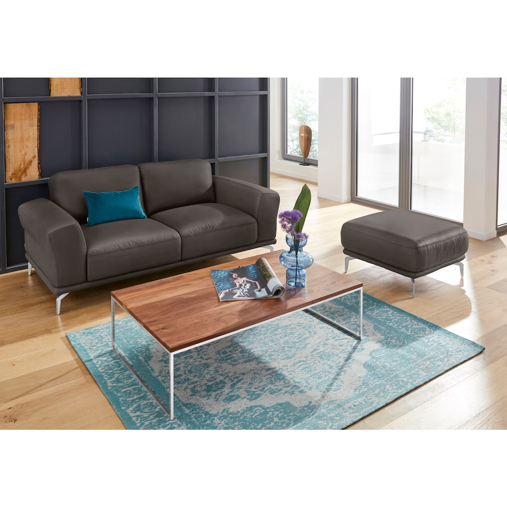 W.SCHILLIG 2-Sitzer »montanaa«, mit Metallfüßen in Chrom glänzend, Breite 192 cm