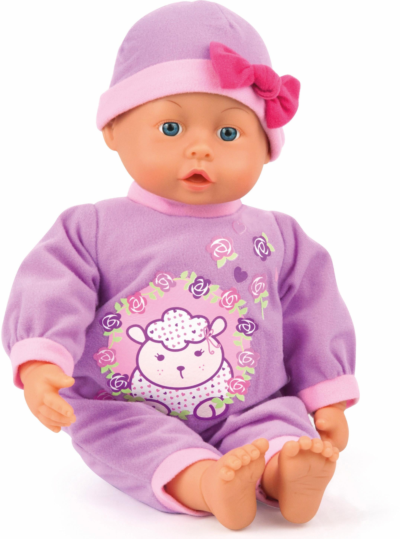 Bayer Design Babypuppe mit Funktion,  First Words Baby, lila 38 cm  Preisvergleich
