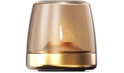 kooduu Windlicht »Glow 10«, Luxuswindlicht, aus gebürstetem Aluminum und Rauchglas kaufen