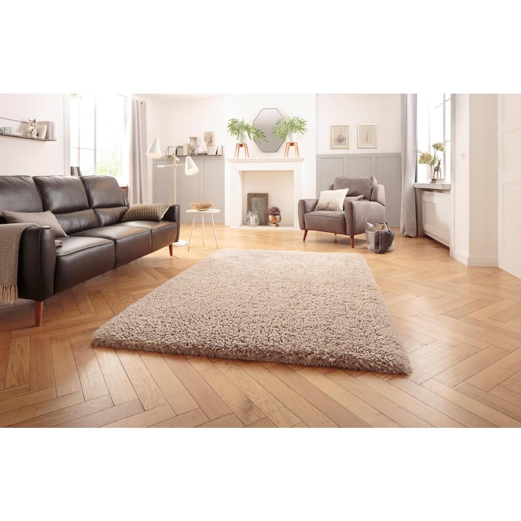 Leonique Hochflor-Teppich »Romy«, rechteckig, 70 mm Höhe, synthetischer Flokati, Wohnzimmer