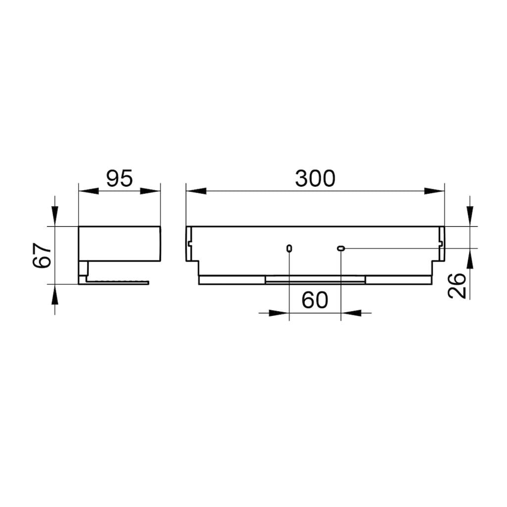Keuco Duschablage »Edition 11«, Aluminium silber-eloxiert, Breite 30 cm