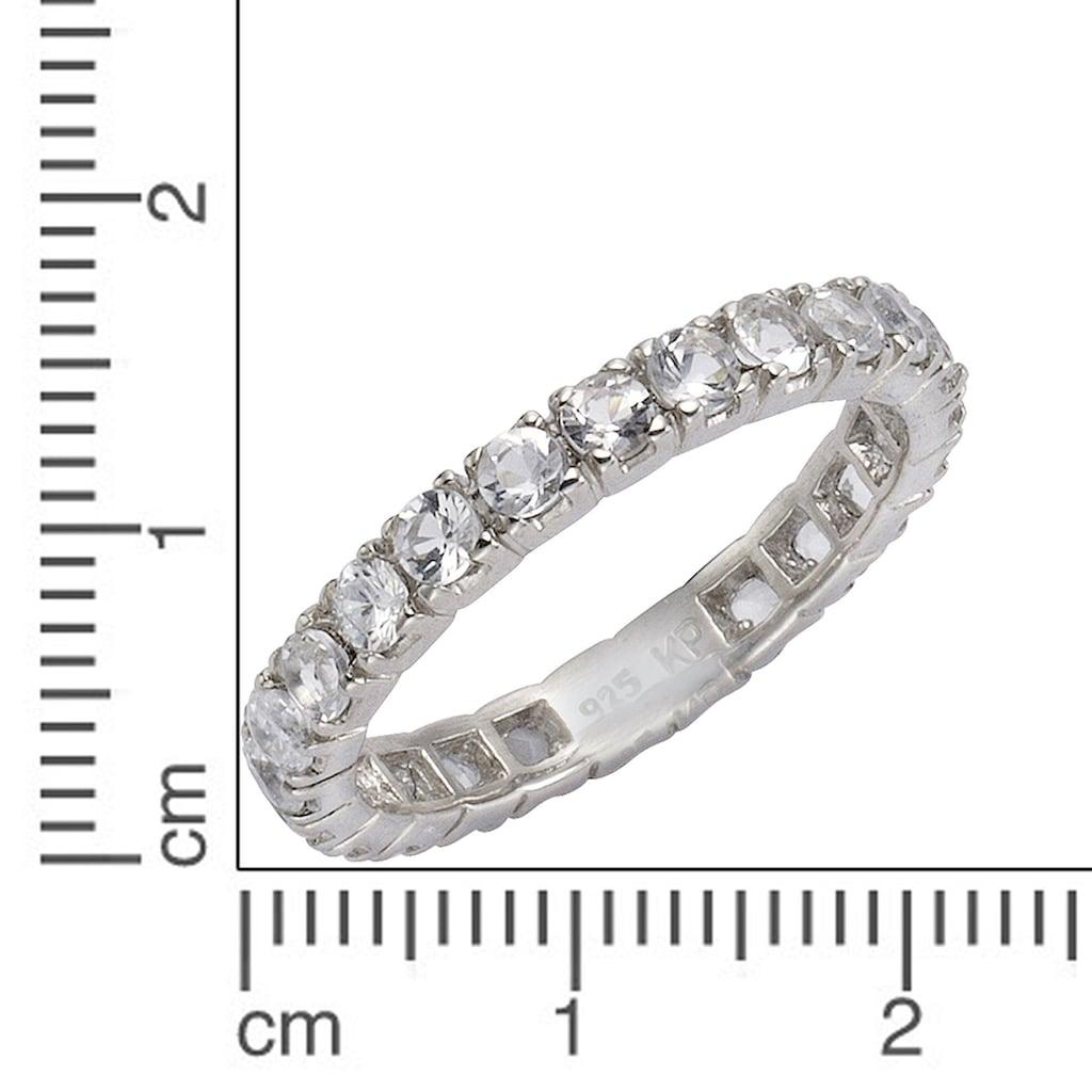 Zeeme Fingerring »925/- Sterling Silber Weißtopas«, Ring
