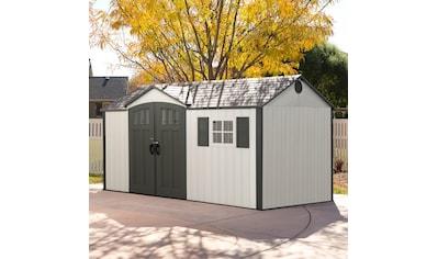 LIFETIME Set: Kunststoffhaus »Texas«, BxT: 381x239 cm, inkl. Fußboden, Regale und Werkzeugtasche kaufen