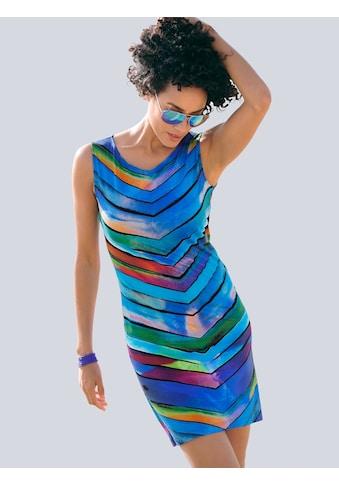 Alba Moda Gestreiftes Strandkleid in Etuiform kaufen