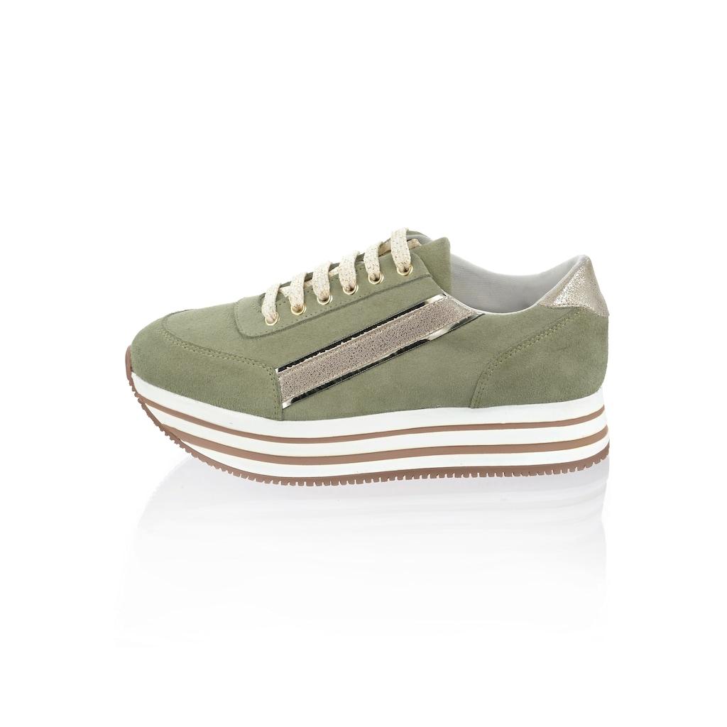 Alba Moda Sneaker, aus Rindsveloursleder