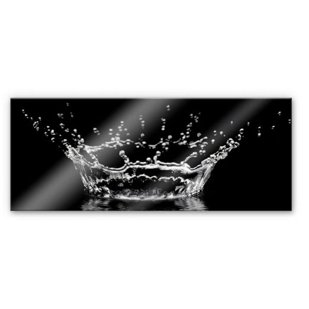 Wall-Art Küchenrückwand »Wassertropfen - Panorama Bild«