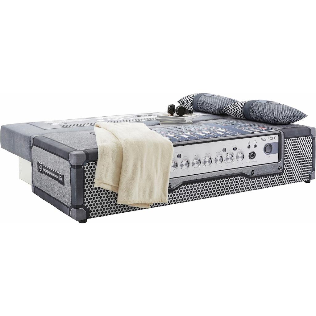 exxpo - sofa fashion Schlafsofa, inklusive Bettfunktion und Bettkasten, wahlweise mit Liftbettfunktion und Federkern