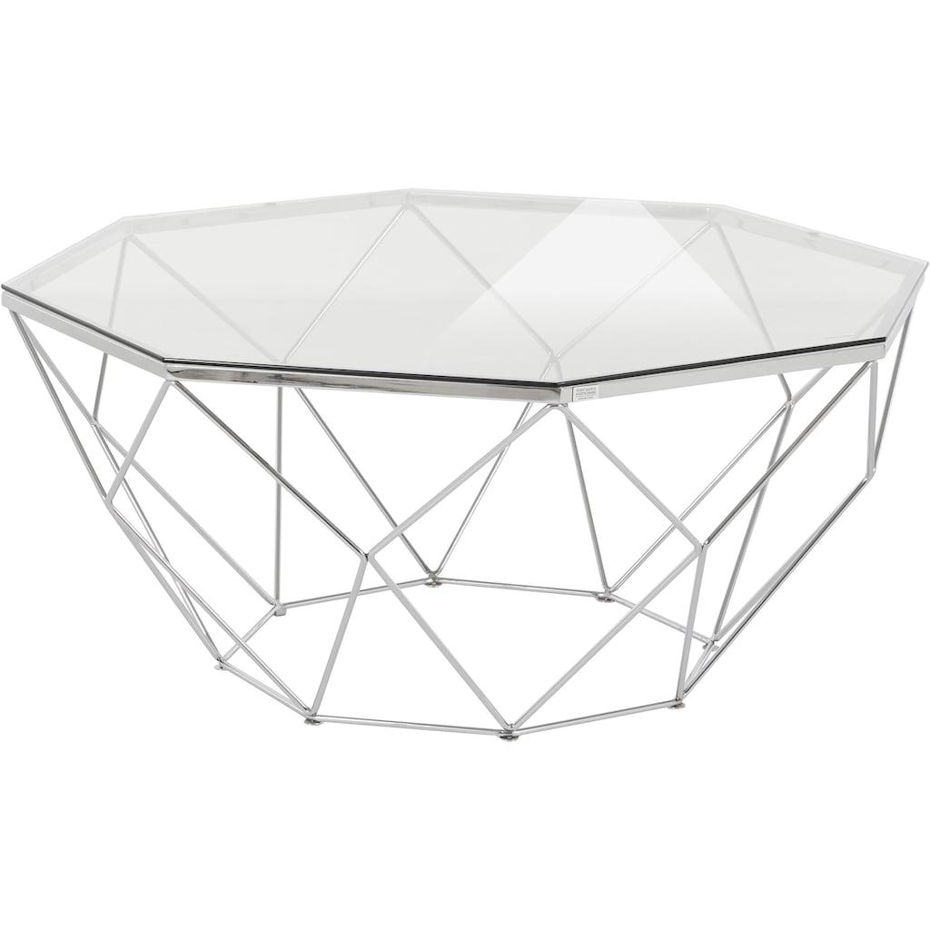 Guido Maria Kretschmer Home&Living Couchtisch »Caen«, aus Glas und Metall in geometrischen Formen, Breite 95 cm