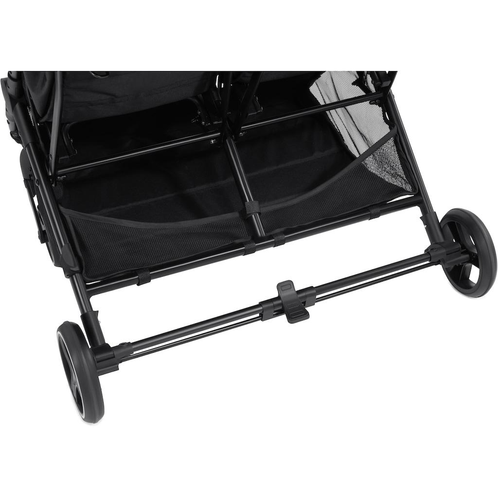 Hauck Geschwisterwagen »SwiftX Duo, black«, 30 kg, mit schwenk- und feststellbaren Vorderrädern und indiviuellen Stylingoptionen durch wechselbares Verdeck; Kinderwagen