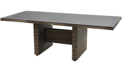 PLOSS Gartentisch »Rabida«, Polyrattan, 220x75x100 cm kaufen