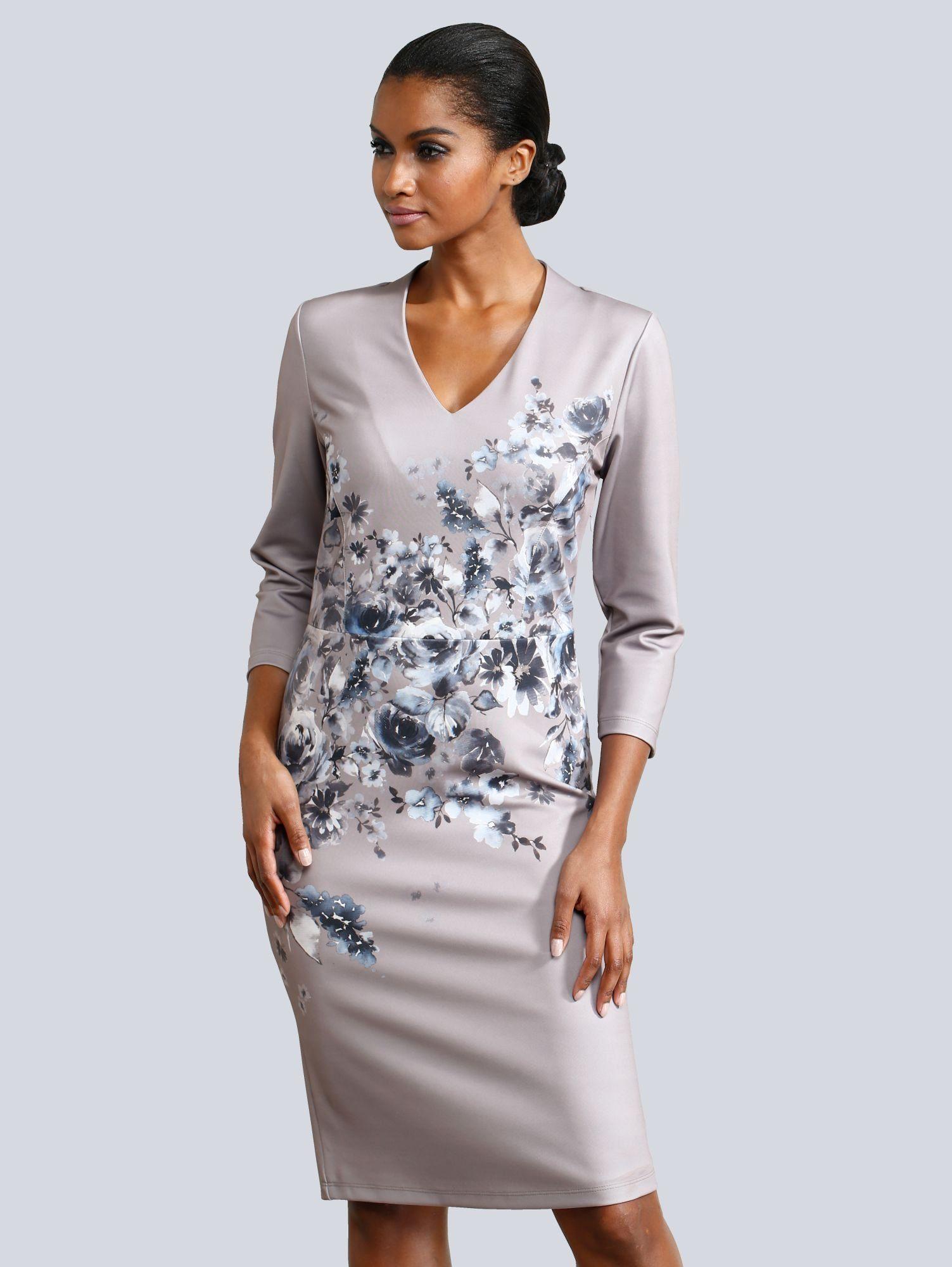 Alba Moda Kleid plakativer Blumendruck