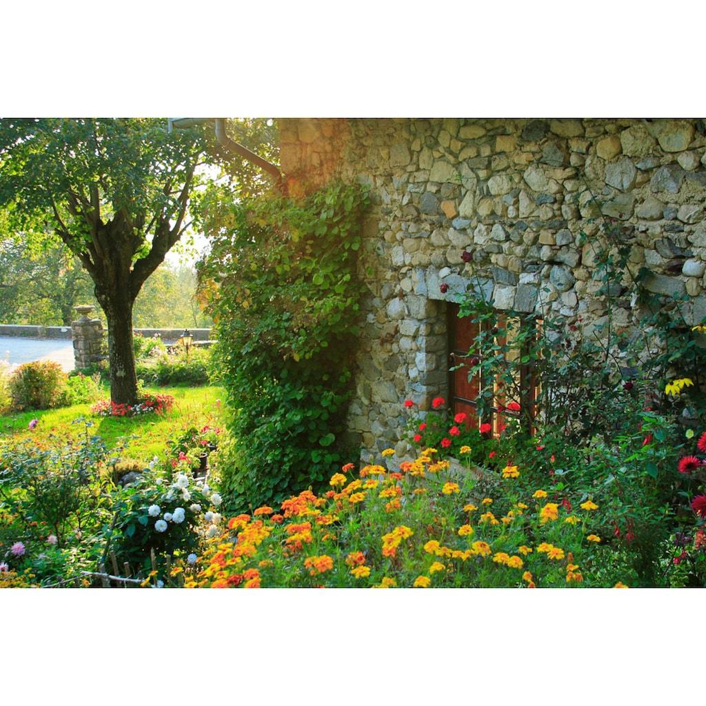 Papermoon Fototapete »Französisches Landhaus«, Vliestapete, hochwertiger Digitaldruck