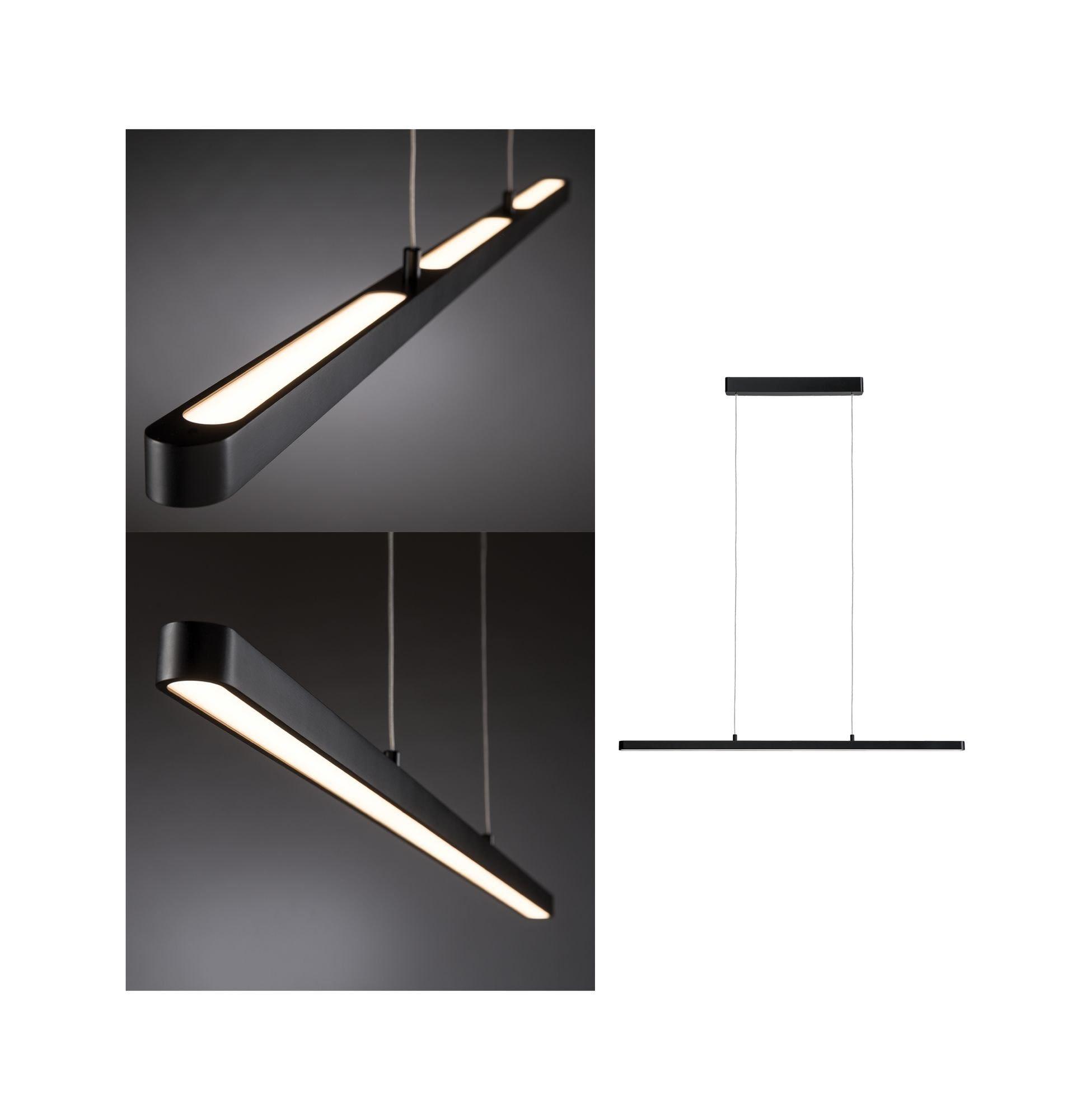 Paulmann LED Pendelleuchte Lento 42W Schwarz dimmbar höhenverstellbar, 1 St., Warmweiß