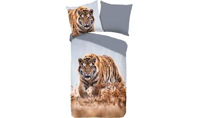 good morning Wendebettwäsche »Tiger«, mit Tierprint kaufen