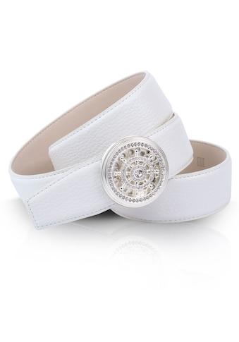 Anthoni Crown Ledergürtel, mit Steuerrad und kleinen Schmucksteinen kaufen