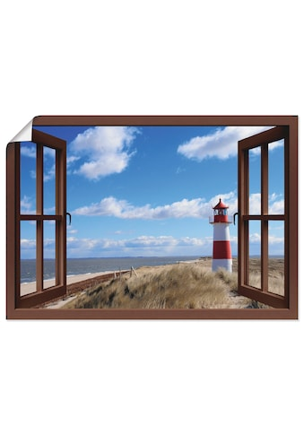 Artland Wandbild »Fensterblick  -  Leuchtturm Sylt« kaufen