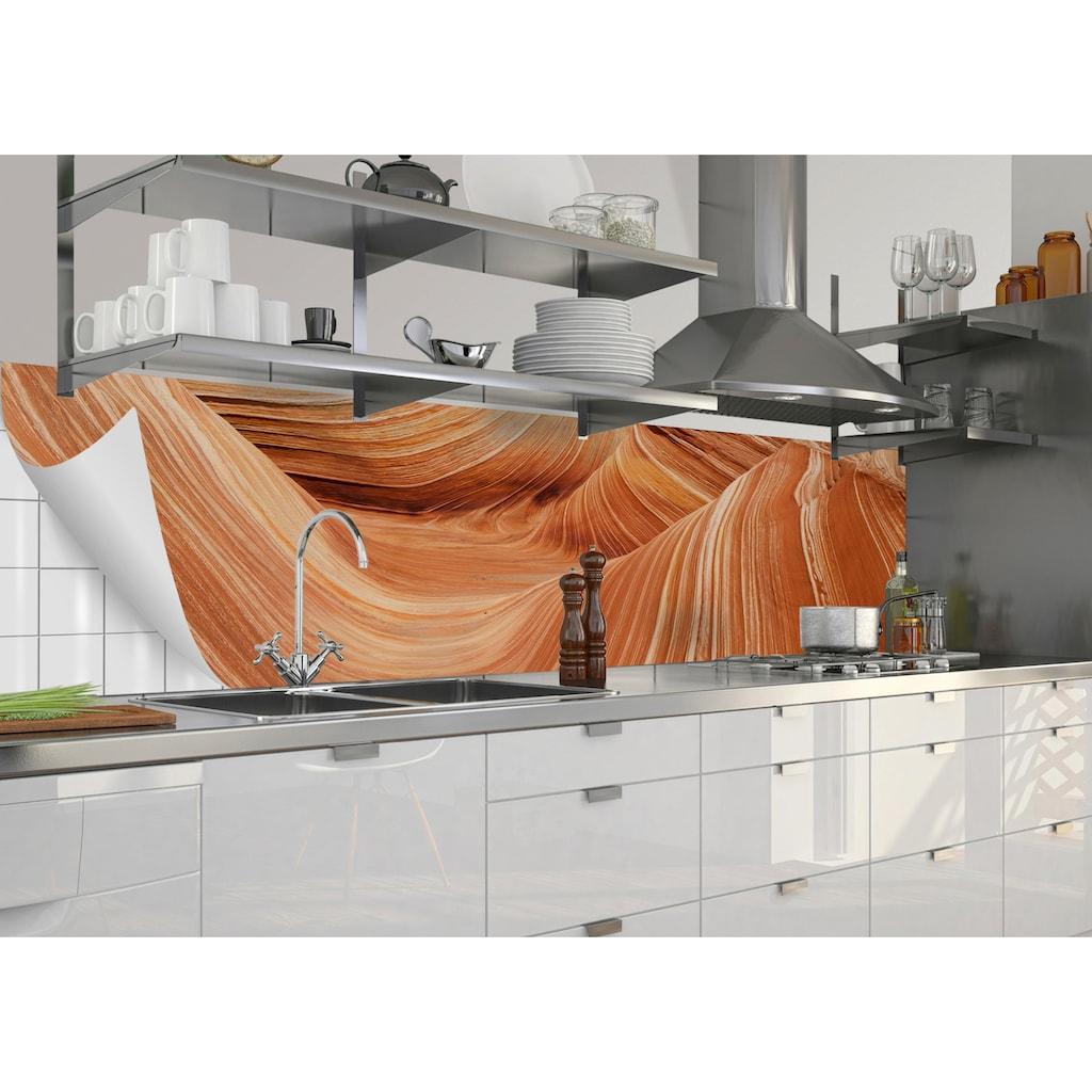 MySpotti Küchenrückwand »fixy Dan«, selbstklebende und flexible Küchenrückwand-Folie