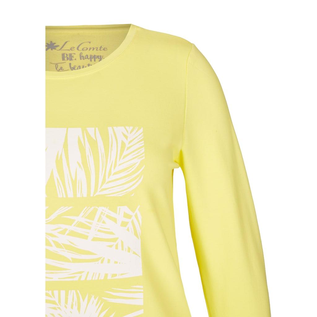 LeComte Shirt mit Front-Print und 7/8-Ärmeln