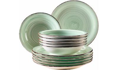 "Home affaire Tafelservice ""Bel Tempo"" (12 - tlg.), Keramik kaufen"