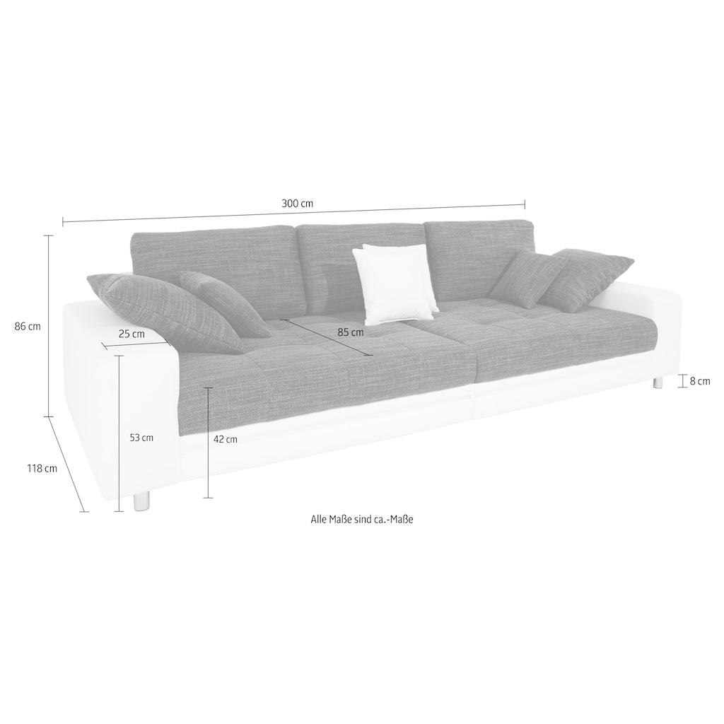 Nova Via Big-Sofa »Tobi«, wahlweise mit Kaltschaum (140kg Belastung/Sitz) und RGB-LED-Beleuchtung