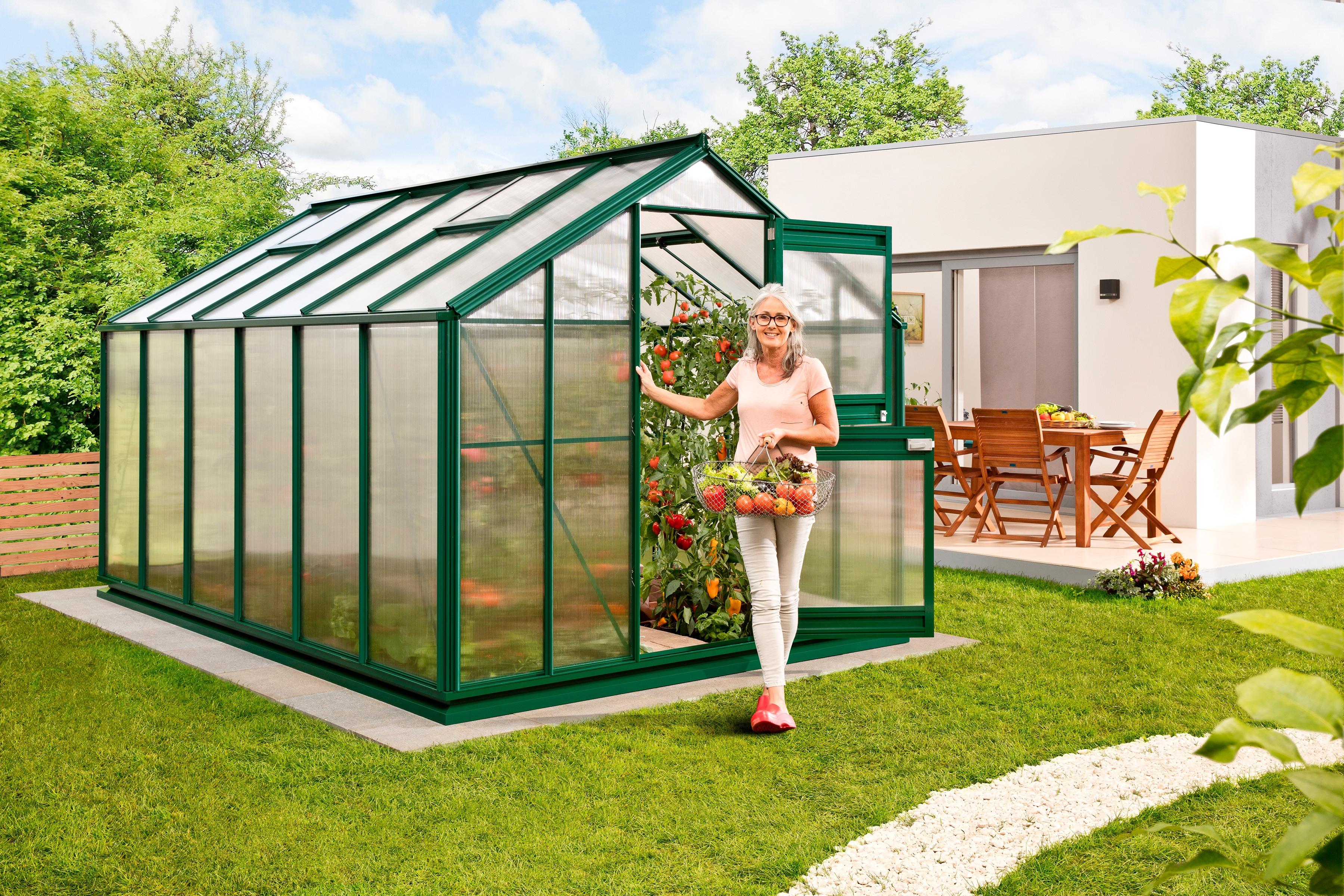 beckmann gew chshaus allg u a10 bxt 256x381cm gr n. Black Bedroom Furniture Sets. Home Design Ideas
