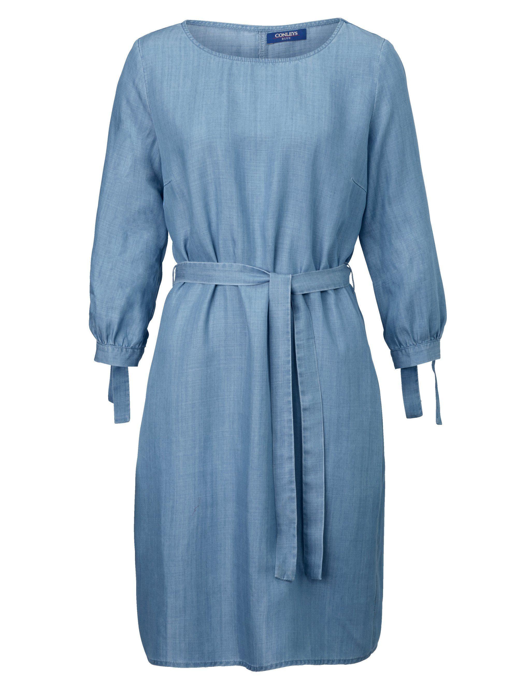 Conleys Blue Denimkleid mit Bindedetail
