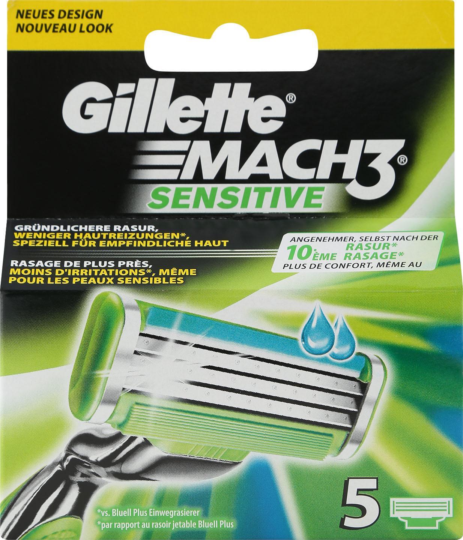 Gillette Mach3 Sensitive Rasierklingen 5-tlg Preisvergleich