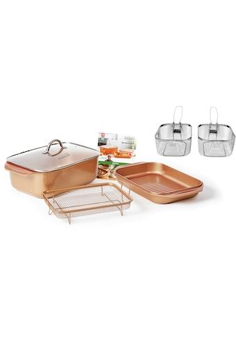 LIVINGTON Bräter »Cooperline Wonder Cooker Deluxe«, Aluminium, inkl. Grillpfanne,... kaufen