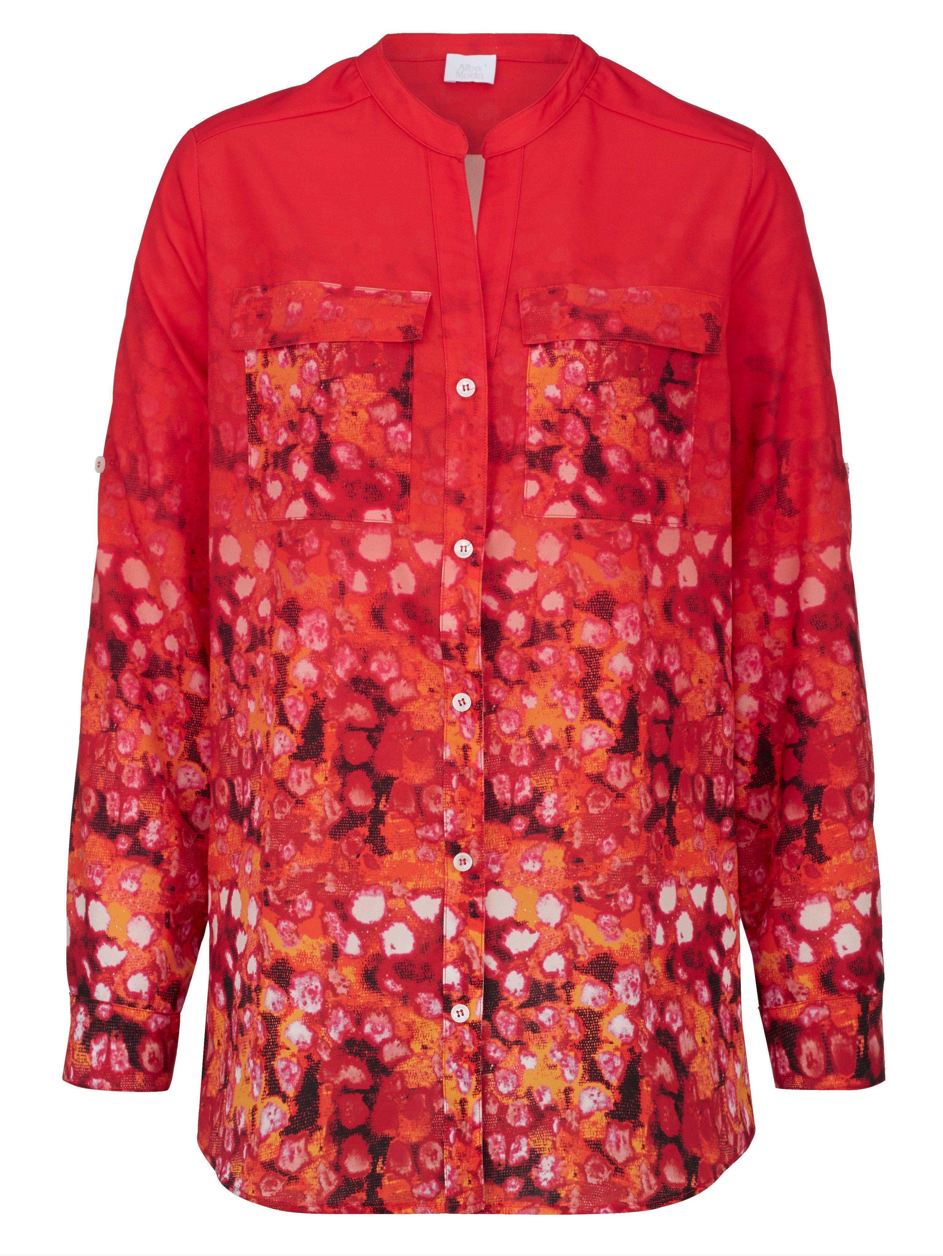 Alba Moda Strandbluse mit Farbverlauf