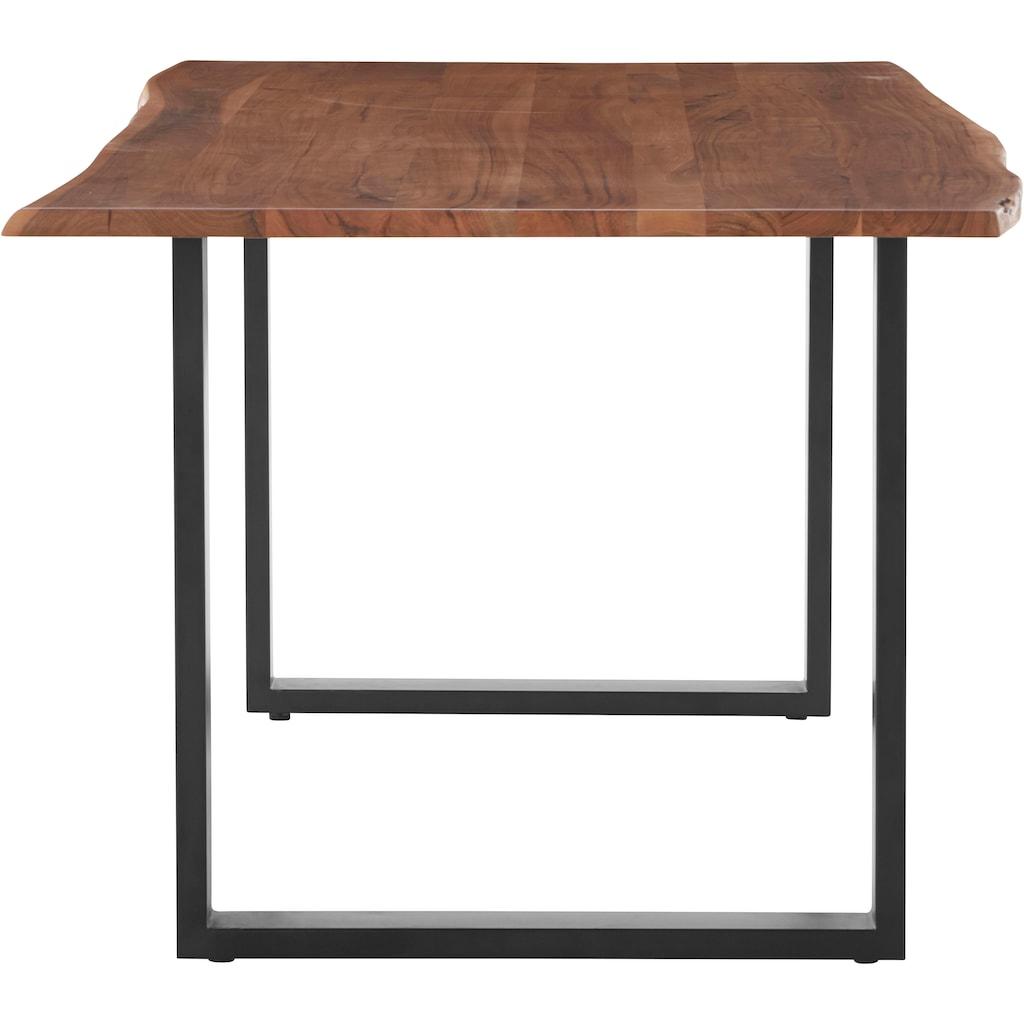 HELA Baumkantentisch »Jenny I«, Massivholz, Tischplattenstärke 26 mm, in verschiedenen Größen