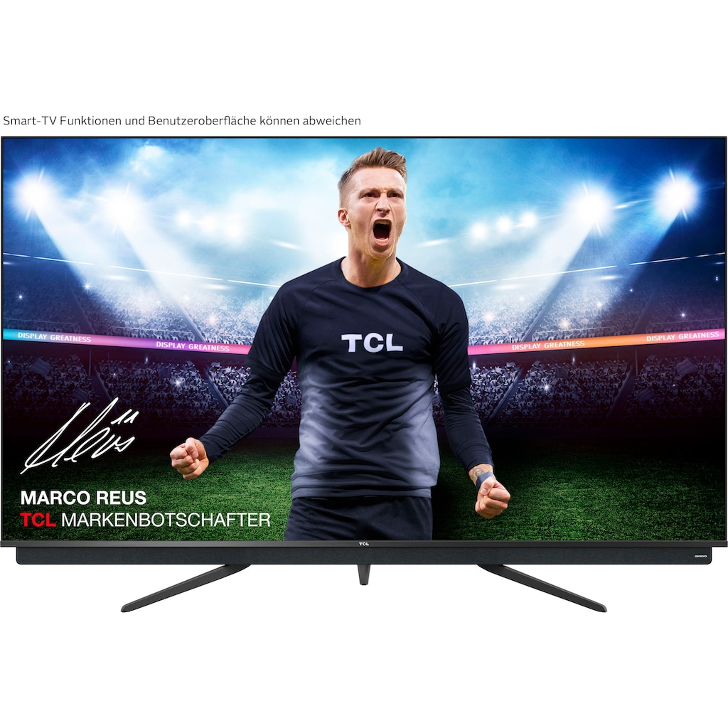 "TCL QLED-Fernseher »75C815«, 189 cm/75 "", 4K Ultra HD, Android TV, integrierter ONKYO Soundbar-Android TV Sprachfernbedienung"