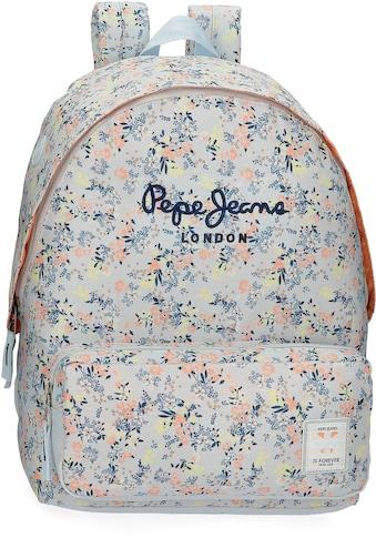 Pepe Jeans Freizeitrucksack »Malila, blau«, mit USB-Anschluss und Kopfhörerausgang kaufen