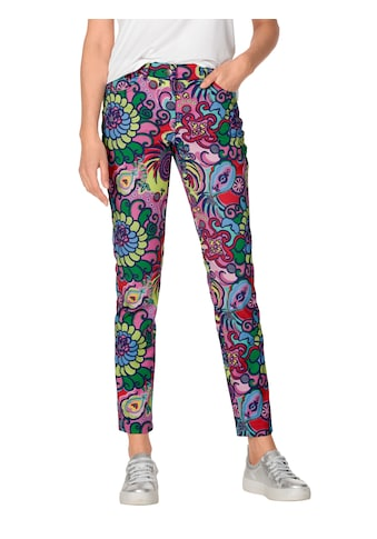 Amy Vermont 5-Pocket-Hose, mit buntem Muster allover kaufen